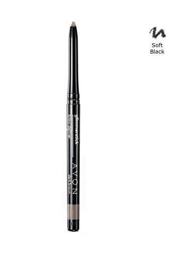 Avon Glimmersticks Açılıp Kapanabilen Kaş Kalemi Soft Black Renkli